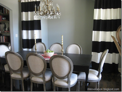 Life Love Larson DIY No Sew Black & White Striped Curtains