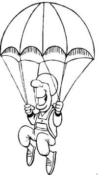Paracaidista Para Colorear Moderno Paracadas Para