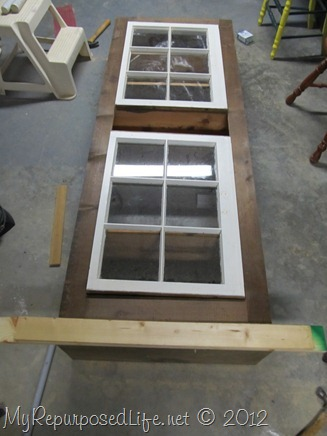 assemble diy window cupboard