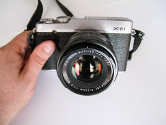 Fujifilm X-E1 with XF 35mm on it