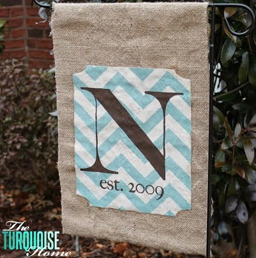 monogrammed fabric clipboard