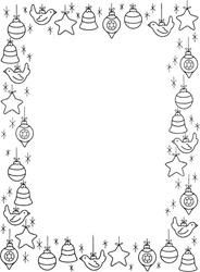 marcos, bordes marcos navidad colorear