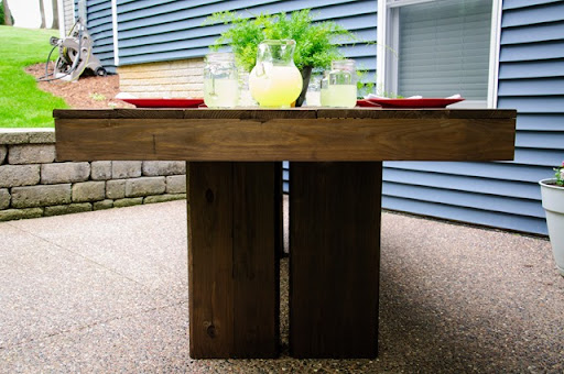 DIY Outdoor Patio Table Tutorial  Decor and the Dog