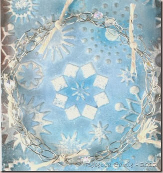 snowflake double embossing tag2