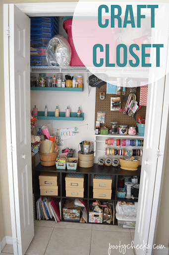 Craft Closet Storage Reveal Poofy Cheeks