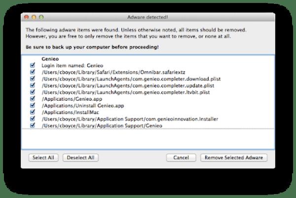 AdwareMedic Screen