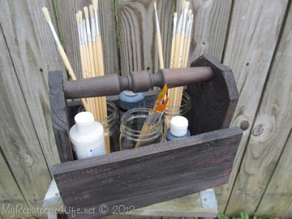 caddy from repurposed fence (78)