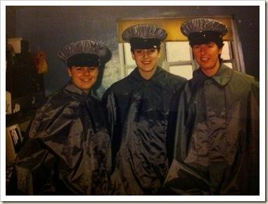 in rain coats