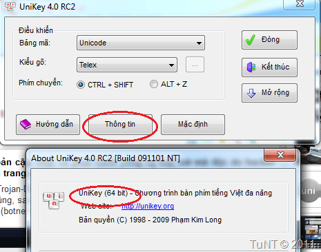Phiên bản Unikey 64bit