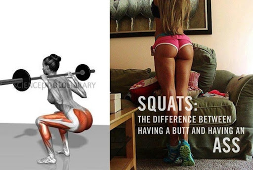 Squats the difference between having a butt and having an ass