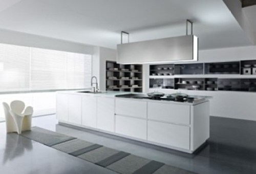 cocina-mueble-minimalista Cocinas modernas blancas