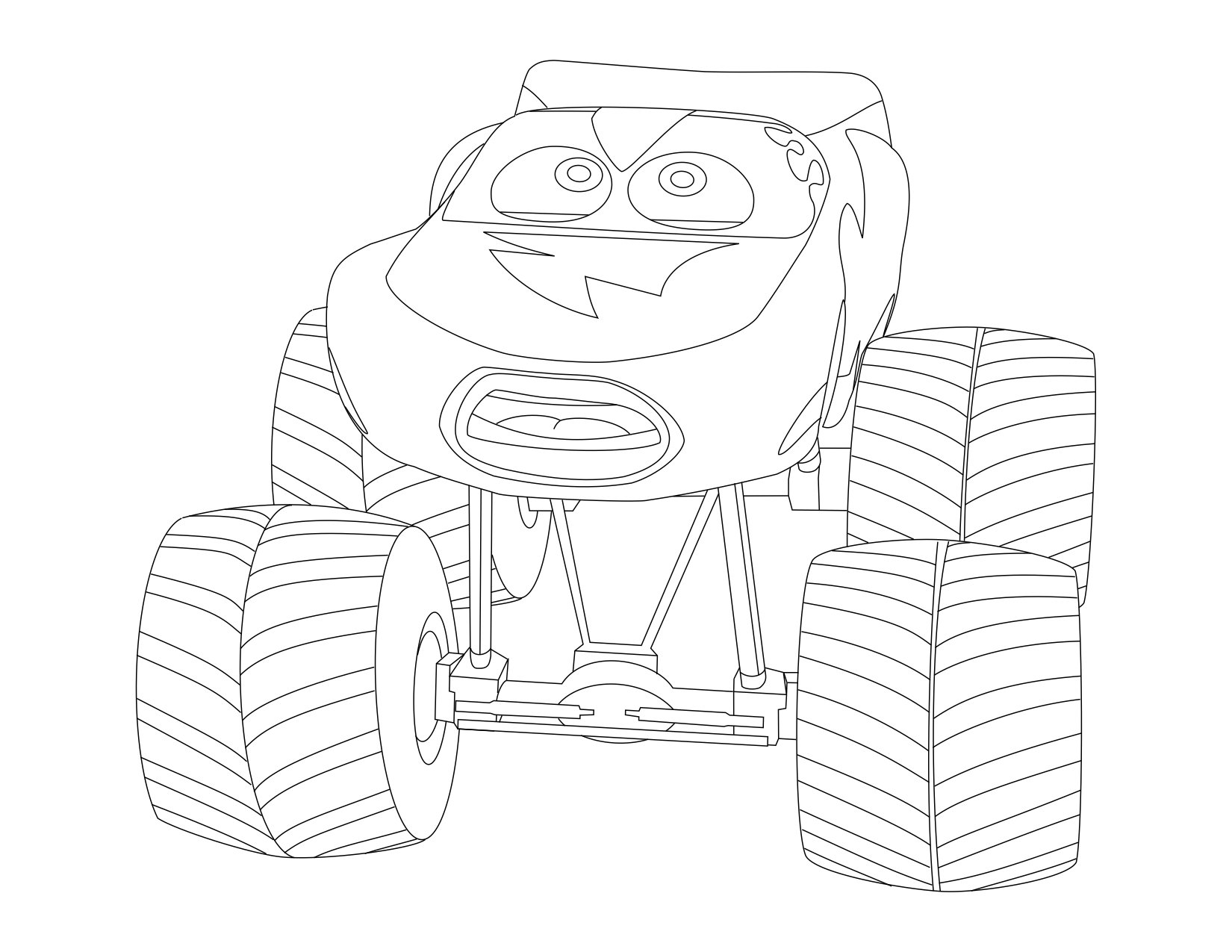 Mack And Lightning Mcqueen Coloring Pages Coloring Pages