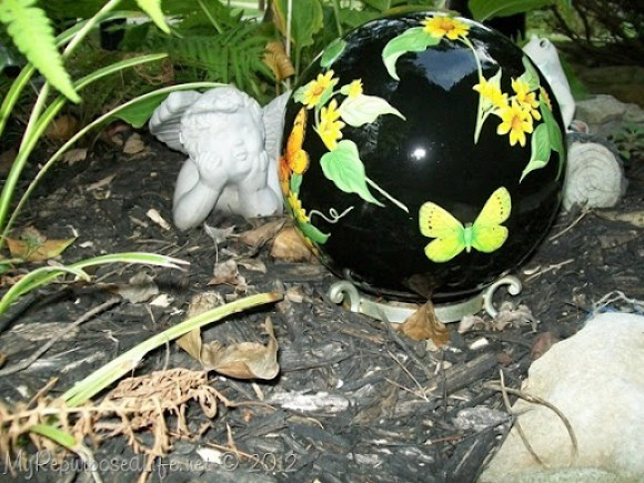 repurposed bowling ball