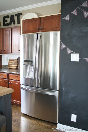 kitchen appliance cabinet cast iron sinks for sale building in a fridge with on top from thrifty ...