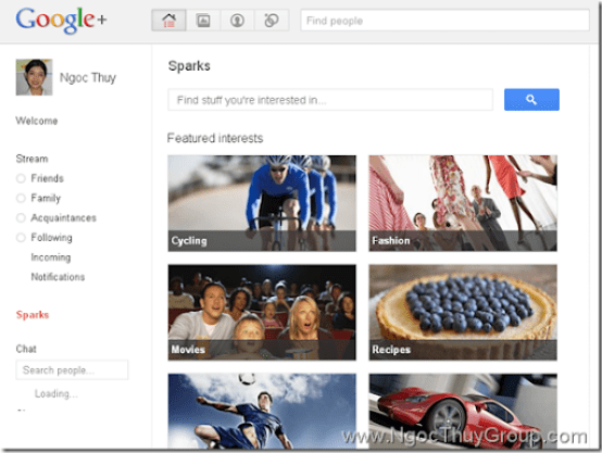 Google Plus - Sparks