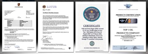 Penghargaan TOP 1 Oli Sintetik Mobil Motor Indonesia