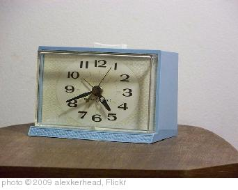'Blue GE Alarm Clock' photo (c) 2009, alexkerhead - license: http://creativecommons.org/licenses/by/2.0/