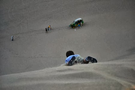 Sandboarding in Paracas, Peru