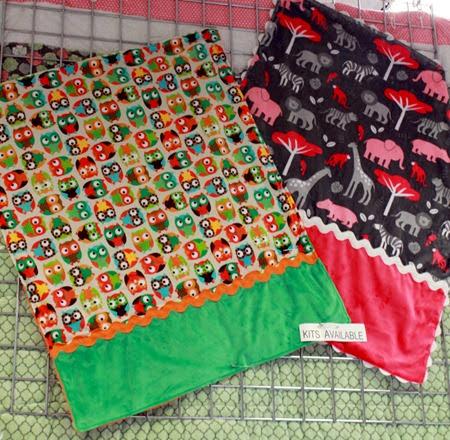 Fabric Mill: Minky Snuggle Blankets + kits