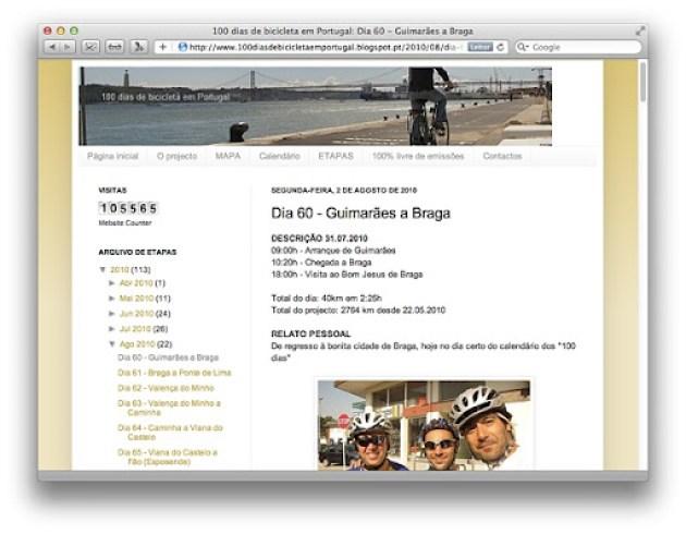 100 dias de bicicleta em Portugal - visita a Braga