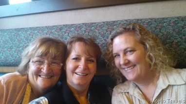 Deanna came through on I-5 so we were able to meet for breakfast with Deb