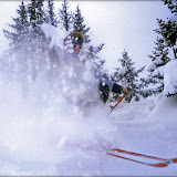 Powder in Trois Vallés in the 80's.