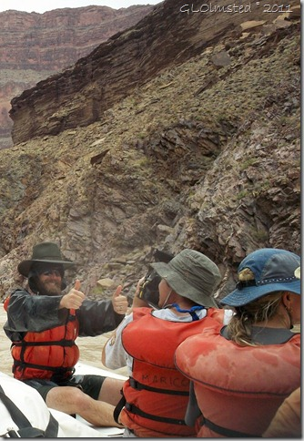 Scott gives thumbs up after Hakatai rapid Colorado River Grand Canyon National Park Arizona