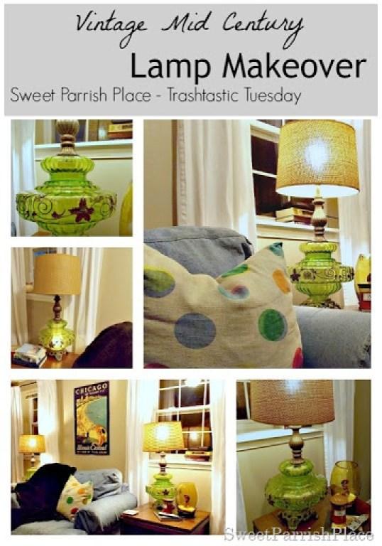 Vintage Green Lamp13
