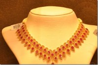 Malabar Gold Ruby Necklace