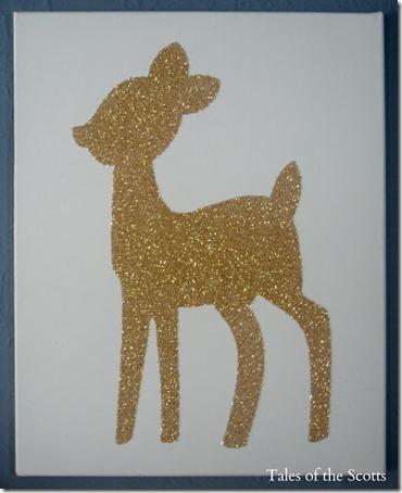 DIY Deer Glitter Canvas