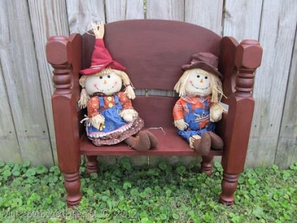 scarecrow dolls bench