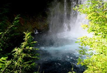 clear plunge pool below Salalie Falls