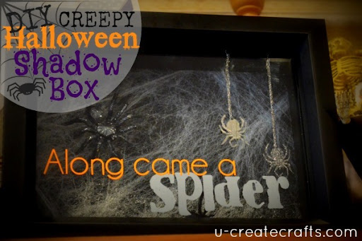 DIY Halloween Shadow Box at u-createcrafts.com