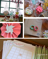 Pinwheel and Pearl Babyshower Printables