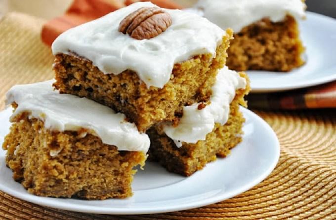 pumpkin cake bars reduced-fat 068