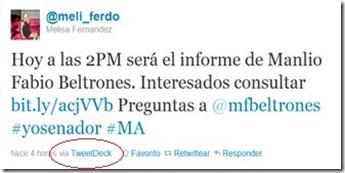 Los acarrados twitteaban a favor de Manlio Fabio Beltrones
