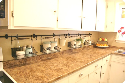 ikea kitchen hanging storage (Your) little things make a big difference from Thrifty Decor Chick
