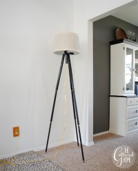 DIY Vintage Tripod Lamp - The Gathered Home