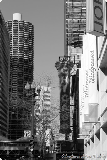 chicago black and white downtown