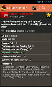 Glycemic Index screenshot 1