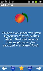 Nutrition Tips screenshot 0