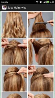 easy hairstyles step