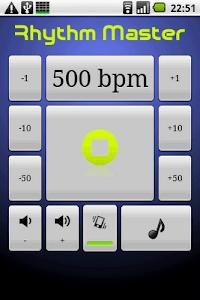 Rhythm Master Metronome screenshot 1
