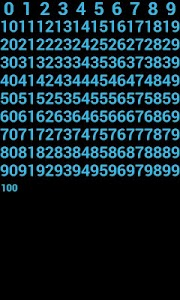 GBW Theme ICS Cyan Number Only screenshot 0
