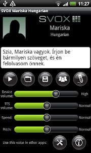 SVOX Hungarian/Magyar Mariska screenshot 0