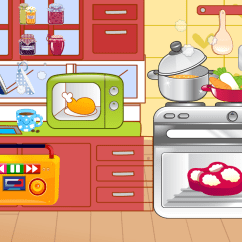 Kitchen Cooking Games Granite Island Table Kids Free Game Android Apps On Google Play