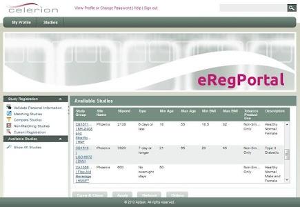 Celerion Clinical Studies screenshot 13