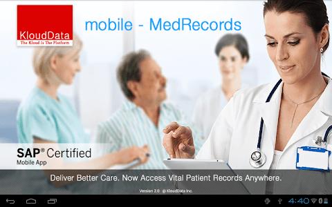 mMR (mobile Medical Records) screenshot 0