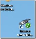 shortcut to removable device on desktop