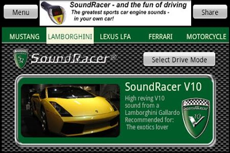 SoundRacer FREE Car Sounds screenshot 2
